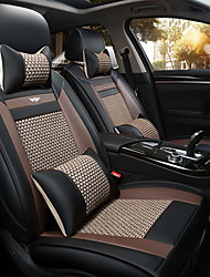 cheap -The New Car Seat Cushion Leather Seat Cover Four Seasons General Ice All Around Five Seats To 2 Seat Headrest Backrest Black Gray