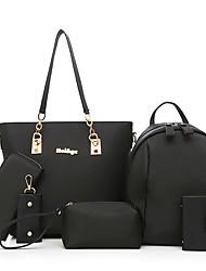 preiswerte -Damen Taschen PU Bag Set Reißverschluss für Normal Ganzjährig Blau Schwarz Purpur Fuchsia