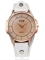 cheap -XU Women's Vintage Leather Belt Simulated Diamond Casual Bracelet Watch