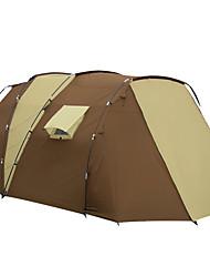 economico -3-4 persone Tenda Doppio Tenda da campeggio Tende da campeggio formato famiglia Anti-pioggia per Campeggio e hiking Altro Materiale CM