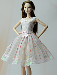 cheap -Dresses Princess Dresses For Barbie Doll Poly/Cotton Lace Dress For Girl's Doll Toy