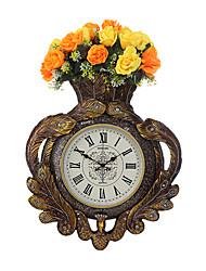 Moderne/Contemporain Traditionnel Rustique Décontracté Rétro Horloge murale,Horloge Animal Résine Intérieur Horloge