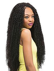 economico -Tessuto riccio Ricci Jheri Afro Treccine a boccoli Capelli 100% Kanekalon Afro crespo Trecce Trecce di capelli 85