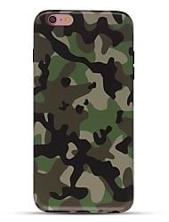 Недорогие -Чехол для iphone 7 6 камуфляж цвет tpu мягкая ультратонкая задняя крышка чехол iphone 7 плюс 6 6s плюс se 5s 5 5c 4s 4