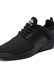 cheap -Men's Athletic Shoes Track & Field Comfort Light Soles Breathable Mesh PU Silica Gel Tulle Net Fall Winter Athletic Casual Outdoor Lace-up