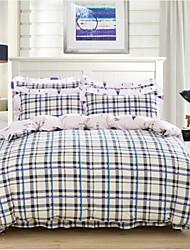 cheap -Luxury 4 Piece Cotton Cotton 4pcs (1 Duvet Cover, 1 Flat Sheet, 2 Shams)