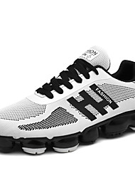 cheap -Unisex Shoes Tulle Spring Summer Novelty Athletic Shoes Flat Heel Round Toe Lace-up for Wedding Casual Outdoor Office & Career White