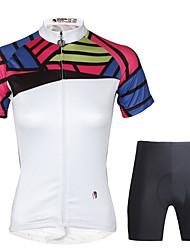 ILPALADINO Велокофты и велошорты Жен. С короткими рукавами Велоспорт Наборы одежды Быстровысыхающий 3D-панель Меньше трения Полиэстер