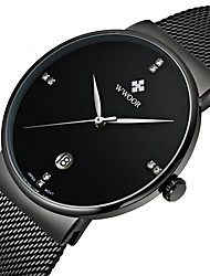cheap -WWOOR Men's Wrist Watch Quartz Calendar / date / day Alloy Band Analog Luxury Fashion Dress Watch Multi-Colored - White Black Blue Two Years Battery Life / Maxell SR626SW