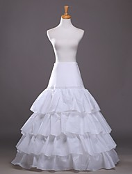 Women's Wedding / Party 4 layers Underskirt Slips A-Line Slip / Ball Gown Slip Floor-length Taffeta Long Petticoats White