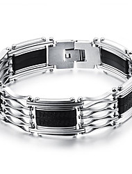 cheap -Men's Bracelet Handmade Fashion Hip-Hop Personalized Simple Casual Unique Titanium Steel Silicone Bangle Sport Jewelry For Birthday
