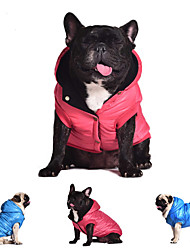 Dog Coat Hoodie Vest Dog Clothes Breathable Christmas New Year Birthday Casual/Daily Keep Warm Fashion High Quality Solid Gray Red Blue