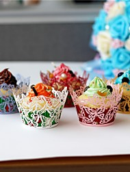 50pcs/lot Beautiful Butterfly Lace Laser Cut Cupcake Wrappers Liner Baking Cup Paper for Wedding Birthday Tea Party Baby Shower Decoration