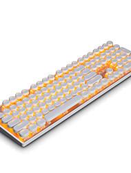 economico -Tastiera di gioco meccanica punk di firstjack ajazz, tastiera circolare, interruttori azzurri, tastiera a tastiera con retroilluminazione a 108 tasti