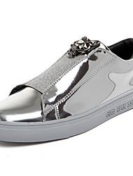 Homme Chaussures Polyuréthane Printemps Automne Confort Mocassins et Chaussons+D6148 Marche Strass Pour Décontracté Or Noir Argent Bleu