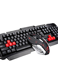 cheap -2.4GHz Wireless Multimedia Ergonomic Usb Gaming Keyboard Metal  6 Buttons Wireless Mouse Sets For Laptop / Computer