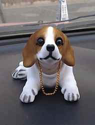 DIY Automotive Pendants Dolls Shaking His Head Dog Decoration Supplies Cute Creative Puppy Beagle Dog Car Pendant & Ornaments Resin