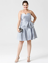cheap -A-Line Fit & Flare Sweetheart Knee Length Taffeta Cocktail Party Dress with Bow(s) Criss Cross by Shang Shang Xi