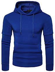 Men's Casual/Daily Hoodie Solid Hooded Micro-elastic Polyester Long Sleeve Winter Fall