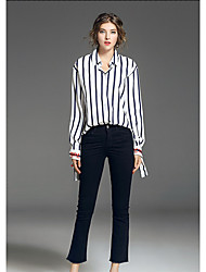 cheap -FRMZ Women's Shirt - Striped Shirt Collar
