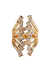 Vintage Zinc Alloy Diamond-Encrusted Rings In European And American Fashion 007
