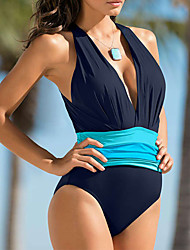 cheap -Womens Vintage Tassel Ruffle Two Piece Swimsuit Tankini Swim Dress