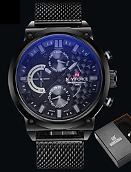cheap -Men's Quartz Wrist Watch Chinese Water Resistant / Water Proof Alloy Band Luxury Creative Casual Unique Creative Watch Dress Watch