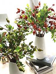 cheap -21inch Large Size 5 Branch Silk Styrofoam Polyester Plants Tabletop Flower Artificial Flowers