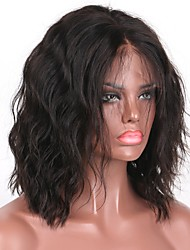 High Quality Natural Wave 5x4.5 Silk Base Full Lace Wig 8-16 Inch Bob Medium-length Hair 130% Density Virgin Brazilian Human Hair Bob Wavy Wig