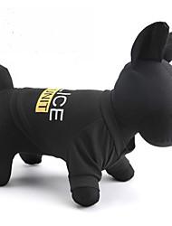 abordables -Chat Chien Tee-shirt Vêtements pour Chien Lettre et chiffre Police/Militaire Noir Térylène Costume Pour les animaux domestiques