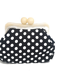 cheap -Women Bags PVC Evening Bag Chain Polka Dot for Wedding Event/Party Spring Summer Black-white