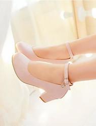 Femme Chaussures Polyuréthane Eté Confort Chaussures à Talons Pour Décontracté Blanc Noir Rose