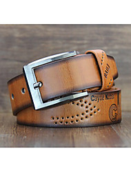 cheap -Unisex Alloy Waist Belt,Blue Brown White Black Light Brown Vintage Casual Fashion Color Block