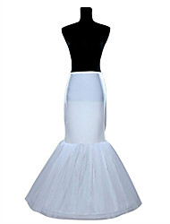 Women's Wedding / Party Slips Tulle Mermaid and Trumpet Gown Slip Floor-length Taffeta Long Petticoats White / Black
