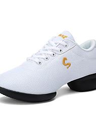 """economico -Da donna Sneakers da danza moderna A rete Sneaker All'aperto Quadrato Bianco Nero Rosso 2 """"- 2 3/4"""""""
