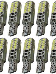 10pcs t10 3014 24smd w5w 24led lumière de lecture lampe témoin voiture automobile led plaque d'immatriculation lumières dc12v