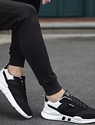 Недорогие -Муж. Легкие подошвы Полиуретан Весна / Осень Спортивная обувь Для прогулок Белый / Черно-белый