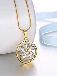 Жен. Ожерелья-бархатки Ожерелья с подвесками Ожерелья-цепочки Цирконий Стразы Геометрической формы Четырехлистный клеверЦиркон Цирконий