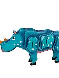 abordables -Puzzles 3D Puzzle Hippopotame Articles d'ameublement A Faire Soi-Même En bois Bois Classique Enfant Cadeau