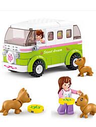 cheap -Building Blocks / Block Minifigures / Pretend Play Castle / Car / House Animals Girls' Gift