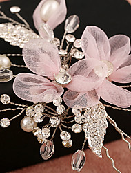 cheap -Tulle Imitation Pearl Rhinestone Net Alloy Flowers Headwear Hair Clip with Floral 1pc Wedding Special Occasion Birthday Party / Evening