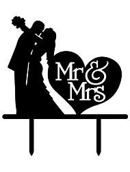cheap -Cake Topper Beach Theme Garden Theme Butterfly Theme Butterly Theme Classic Theme Vintage Theme Rustic Theme Wedding Classic Couple