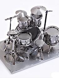 Недорогие -Металлические пазлы Игрушки Ударная установка Барабанная установка 3D Своими руками Сплав Не указано Куски