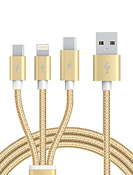 preiswerte -USB 2.0 Kabel, USB 2.0 to USB 2.0 Typ C Micro USB 2.0 Lightning Kabel Male - Male 1.2m (4Ft)