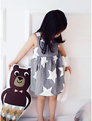 Girl's Striped Dress Cotton Summer Sleeveless Star Baby Girls Dress Fashion Kids Girls Clothes