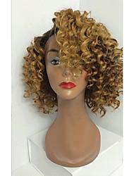 abordables -Cheveux humains Full Lace Perruque Bouclé 130% Densité 100 % Tissée Main Perruque afro-américaine Ligne de Cheveux Naturelle Cheveux