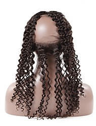 cheap -Deep Wave 360 Lace Frontal Malaysian Remy Hair 130% Density Swiss Lace With Bleached Knots 100% Human Hair Closure