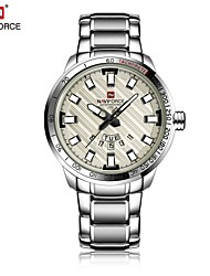 cheap -NAVIFORCE Men's Wrist Watch Japanese Calendar / date / day / Water Resistant / Water Proof / Cool Stainless Steel Band Luxury / Fashion
