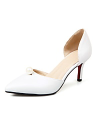Women's Heels Basic Pump Spring Summer Synthetic Microfiber PU Wedding Dress Party & Evening Office & Career Imitation Pearl Stiletto Heel