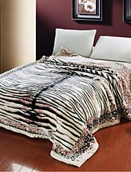 Недорогие -Фланель Зебра Хлопчатобумажная ткань одеяла